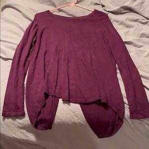 Francescas open back purple sweater